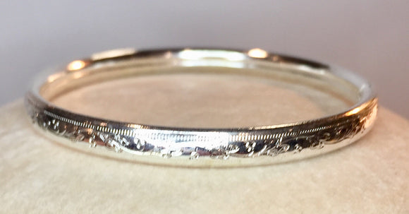 Sterling Silver Child's Bangle Bracelet