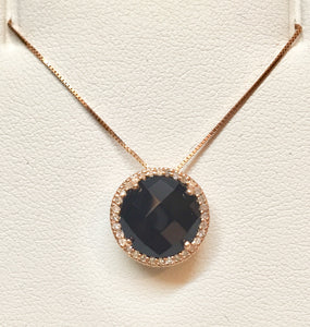 Onyx & Diamond Pendant