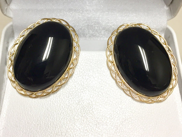 14K Onyx Earrings