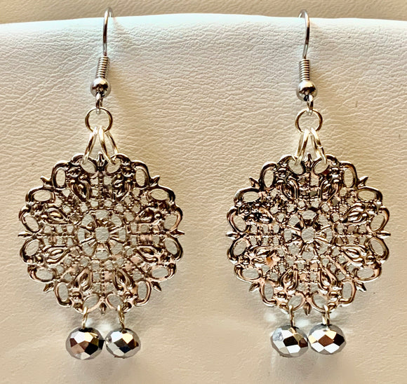 Fashion Filigree Faceted Bead Earring