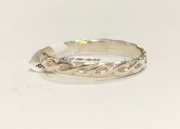 Earth Grace  Stackable Sterling Silver Ring