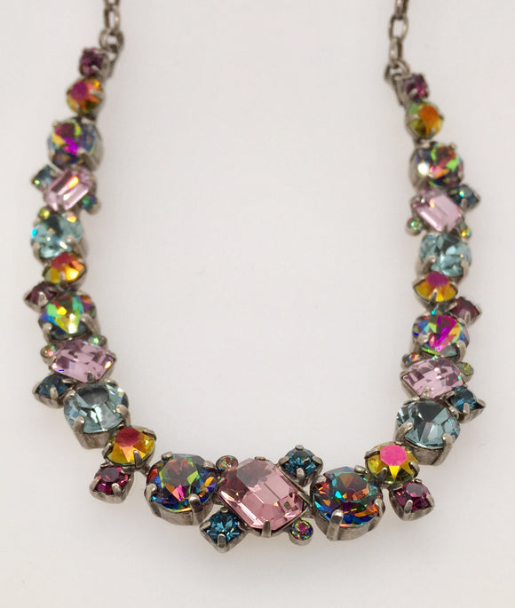 Novelty Multi-Cut Crystal Necklace