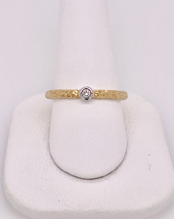 Yellow Gold Diamond Band by PeJay