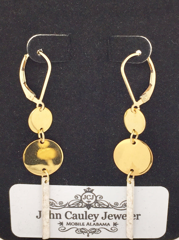 Two Tone Fashion Earrings
