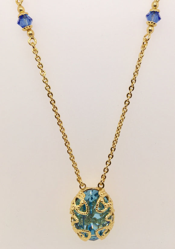 Sorrelli Antique-Inspired Oval Cut Pendant