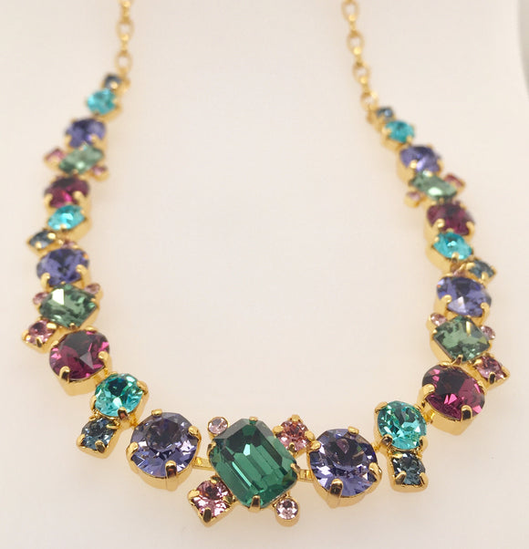 Sorrelli Novelty Multi-Cut Crystal Necklace