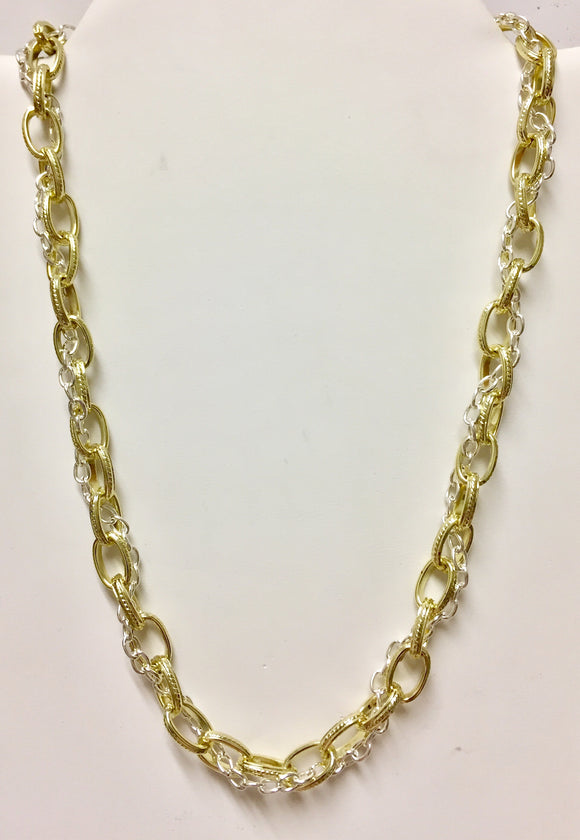 Fashion Two-Tone Necklace