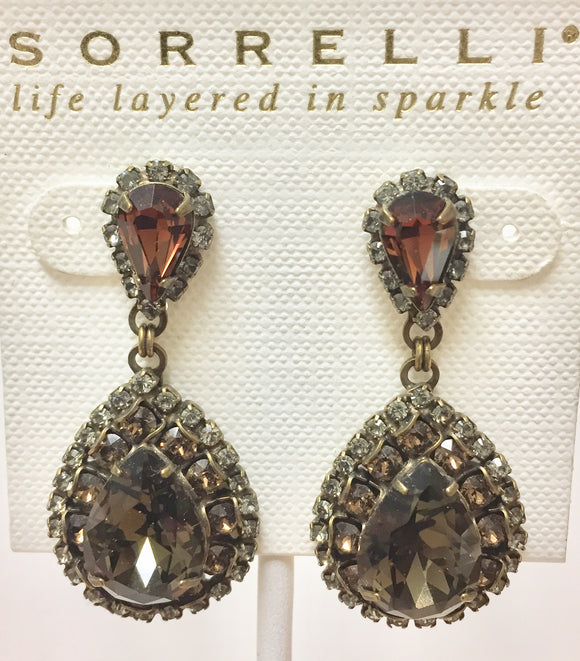 Sorrelli Oval Encrusted Crystal Statement Earrings