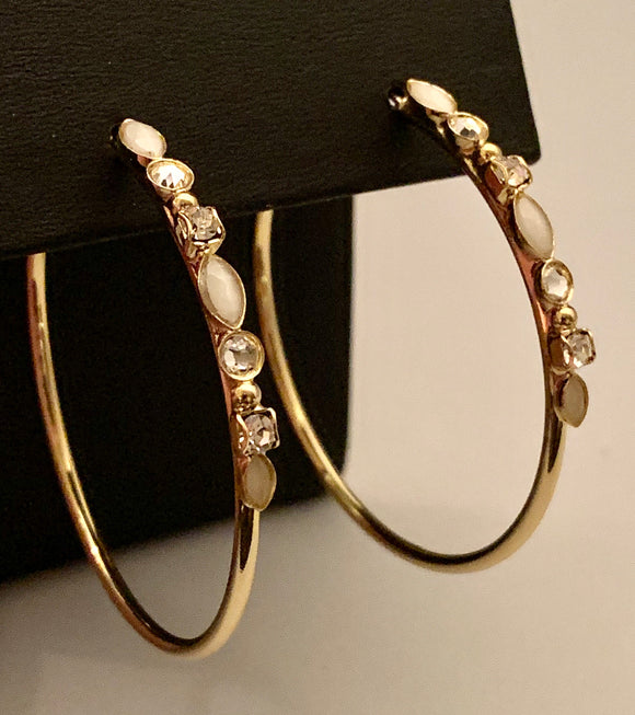 SORRELLI CRYSTAL HOOPS