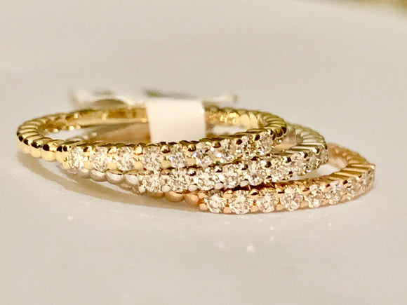 14K DIAMOND STACKABLE BANDS
