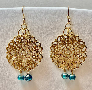 Fashion Filigree Bead Earring