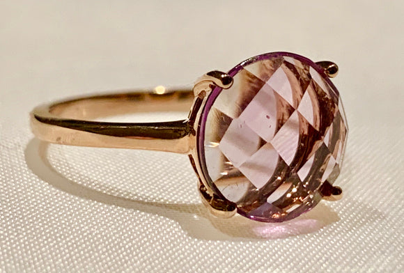 14K ROSE GOLD AMETHYST RING