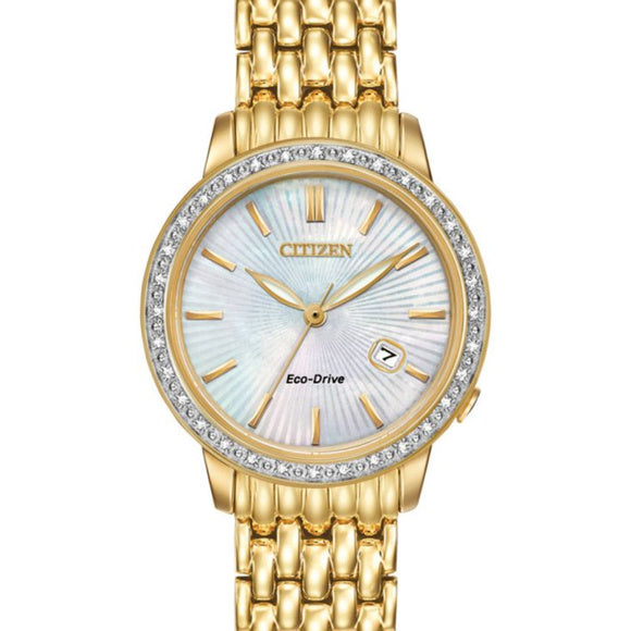 Citizen Ladies Eco Drive Diamond Bezel Watch