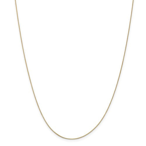 14k .5mm Box Chain