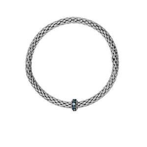 Phillip Gavriel Sterling Blue Topaz Stretchable Bracelet