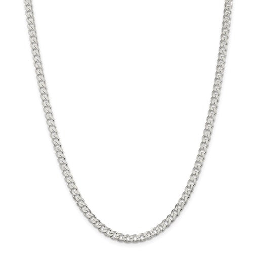 Sterling Silver 4.5mm Curb Chain 22