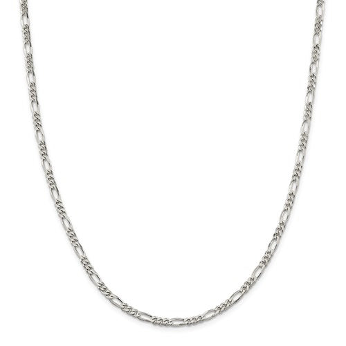 Sterling Silver 3.5mm Figaro Chain