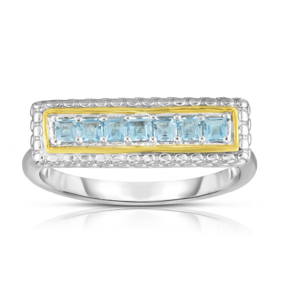 Phillip Gavriel Sterling/Blue Topaz Ring
