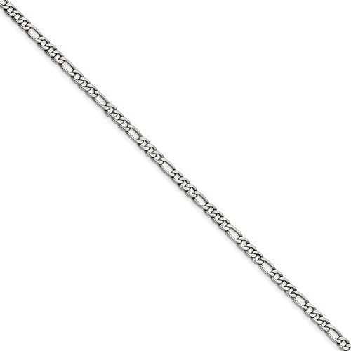 Stainless Steel 5.30mm 18in Figaro Chain
