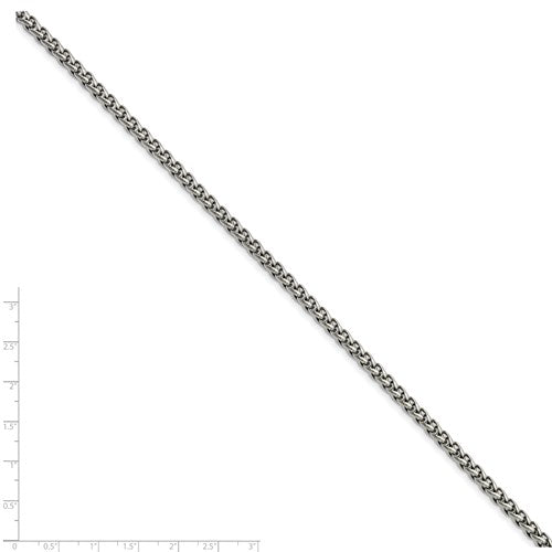 Stainless Steel 5mm Wheat 20in Chain