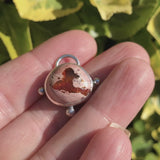 Mexican Fire Opal Pendant Necklace Sterling Silver