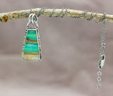 Opalized Petrified Wood Necklace Sterling Silver