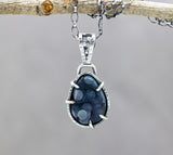 Grape Druzy Agate One of a Kind Sterling Silver Pendant Necklace