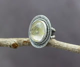 Golden Rutilated Quartz Ring Sterling Silver