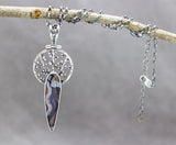 Purple Passion Agate Talisman Necklace Sterling Silver