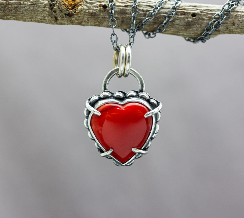 Rosarita Heart Necklace Sterling Silver