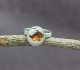 Mexican Fire Opal Ring in Sterling Silver #3