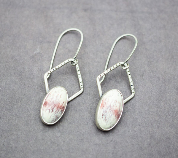 Alunite Dangle Earrings Sterling Silver