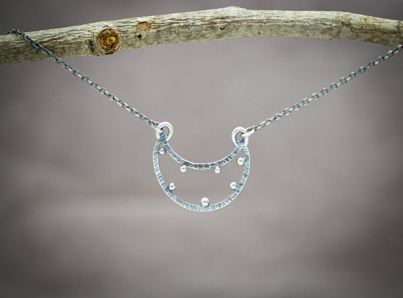 Crescent Moon Necklace Sterling Silver