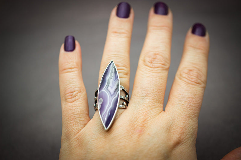 Purple Passion Ring Sterling Silver
