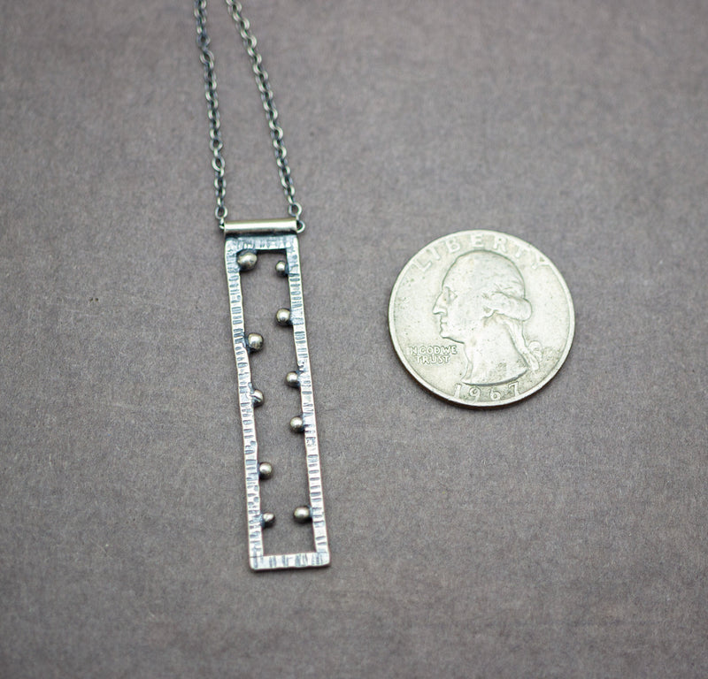 Rectangle Necklace Sterling Silver