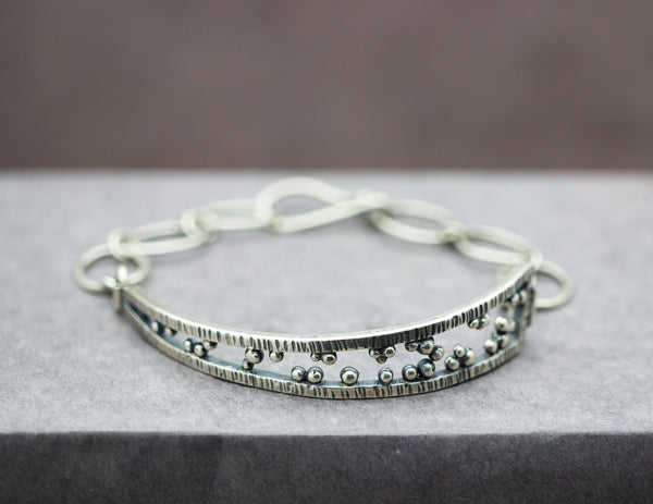 Triangle Sterling Silver Layering Bracelet