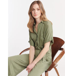 Majestic Leinen-Mix Jumpsuit