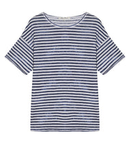 Load the image into the gallery viewer,Stefan Brandt linen shirt Fausta round neck short sleeve