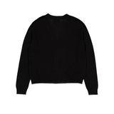 Vitos 1925 VS37 black color cropped cashmere cardigan back view