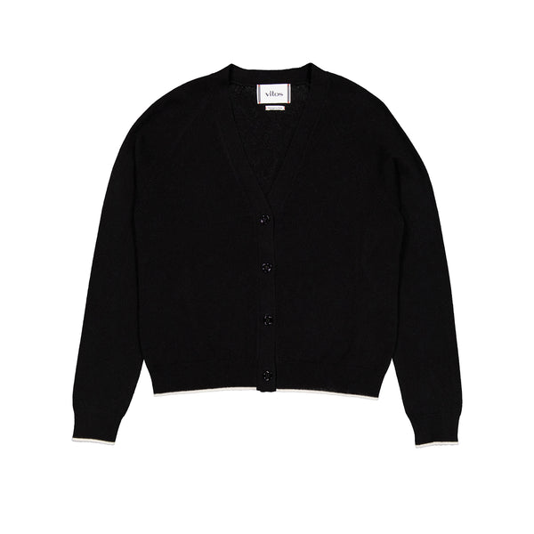 Vitos 1925 VS37 black color cropped cashmere cardigan