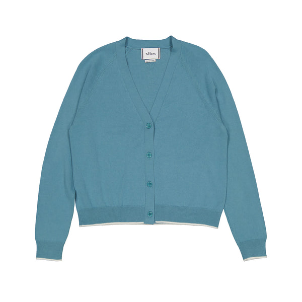 Vitos 1925 VS37 blue color cropped cashmere cardigan