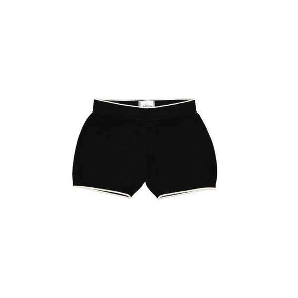 Vitos 1925 VS40 black color cashmere shorts