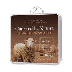 Classic Wool Quilt 350gsm - Caressed by Nature Australian Wool Quilts and Under blankets