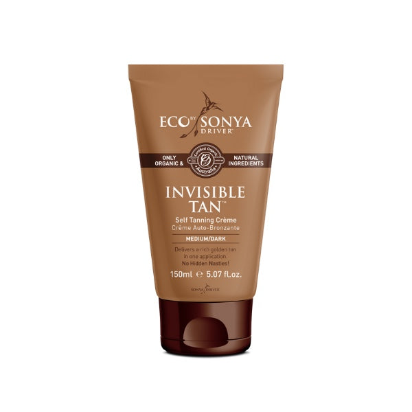 Eco by Sonya Invisible Tan itseruskettava kasvo- ja vartalovoide, Medium/ Dark, 150ml