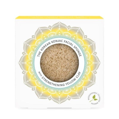 The Konjac Sponge Company Mandala Yellow Clay konjac -sieni