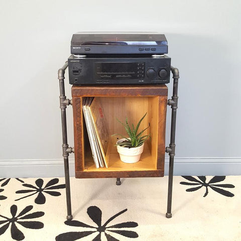 Vinyl LP cabinet and Turntable stand, Record Album Holder