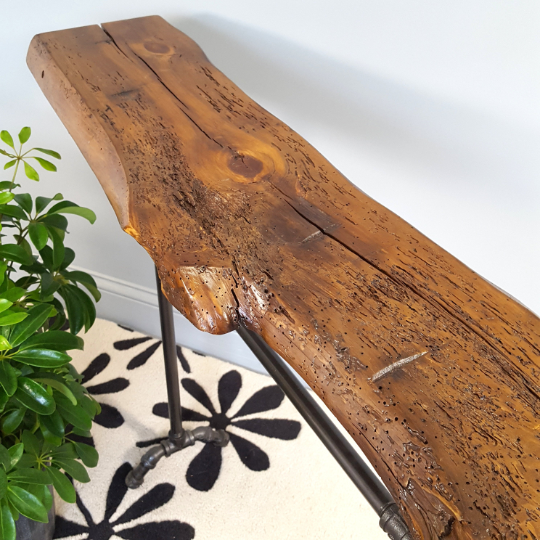Unique reclaimed wood Console Table