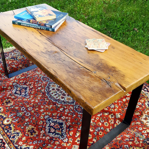 Reclaimed Wood Coffee Table, Old Growth Wide Plank, Antique Barn Floor Table, Rustic Bench