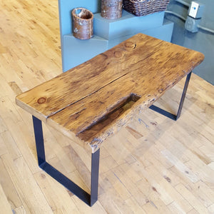 "Coffee Table, Reclaimed Wood, Farmhouse Bench, Massive 19"" Old Growth Wide Plank, Antique Barn Floor Table, Rustic Bench"