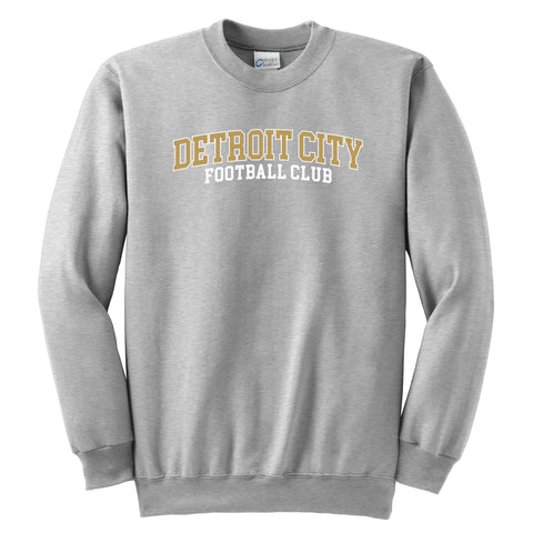 DCFC Youth Collegiate Crew Neck Sweatshirt- Athletic Grey